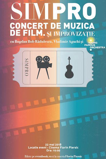 Simpro - concert de muzică de film și improvizație la Cinema Florin Piersic