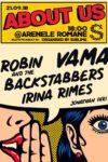 About Us: Vama, Robin and the Backstabbers, Irina Rimes