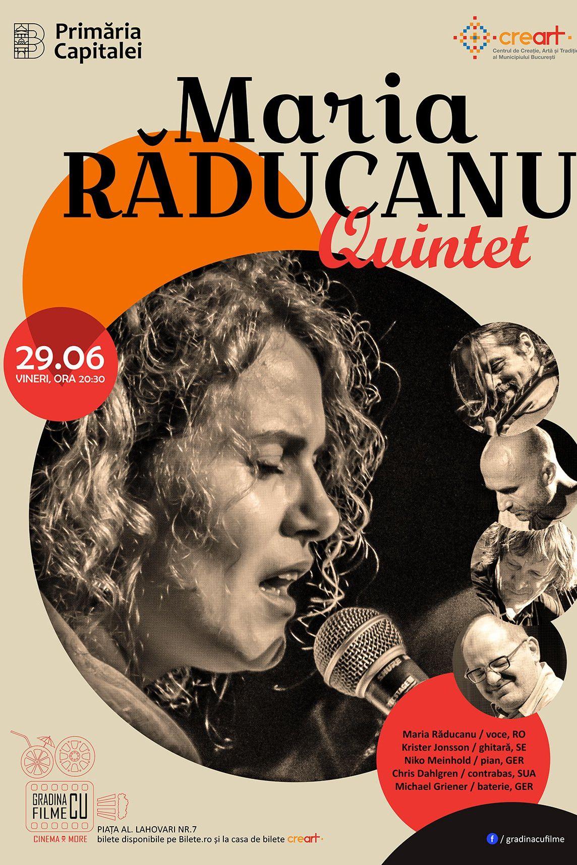 Maria Răducanu Quintet la Grădina cu filme
