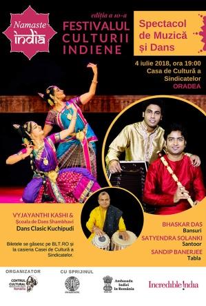 Namaste India la Casa de Cultură a Sindicatelor Oradea