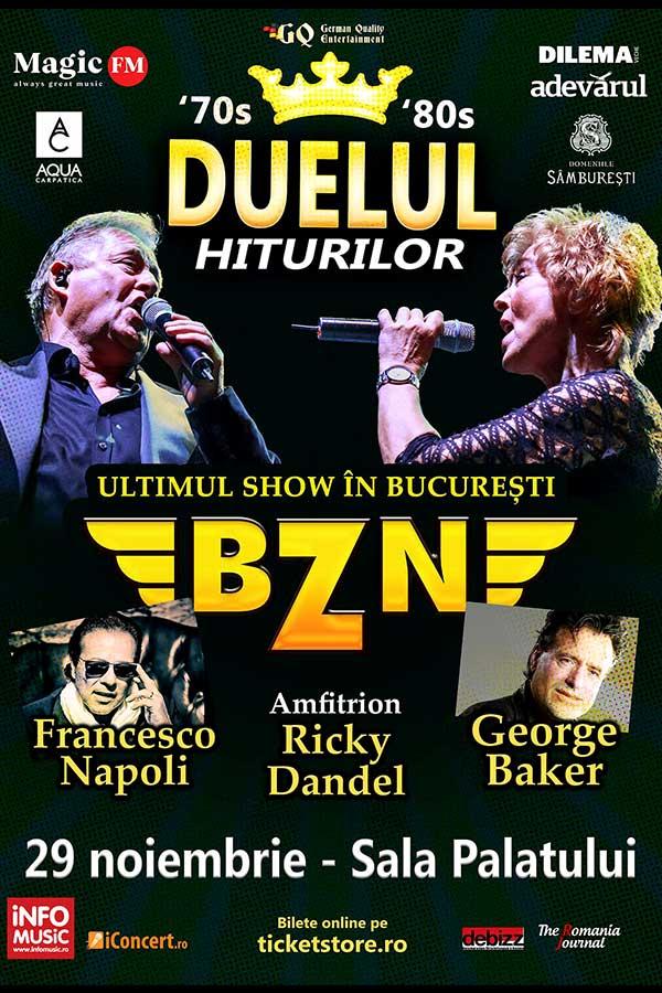 Duelul Hiturilor cu BZN, George Bake, Francesco Napoli la Sala Palatului