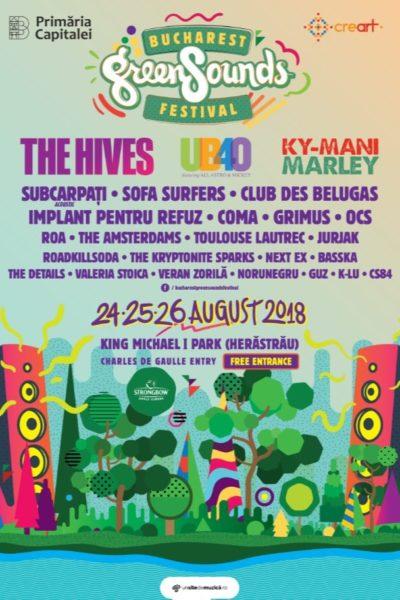 Poster eveniment BUCHAREST GreenSounds FESTIVAL 2018