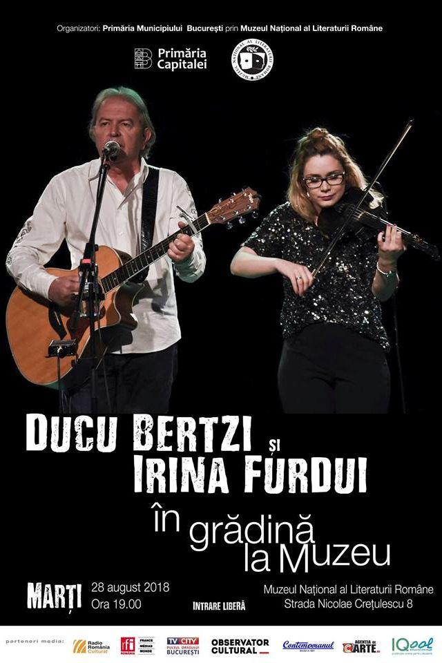 Ducu Bertzi și Irina Furdui la Muzeul Național al Literaturii Române