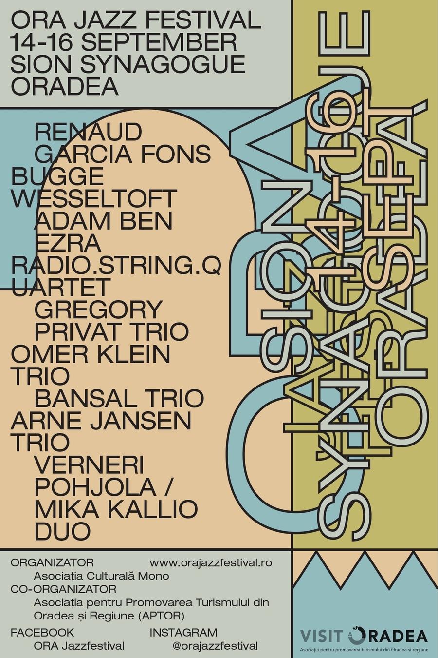 ORA Jazz Festival 2018 la Sinanoga Neologă Sion din Oradea
