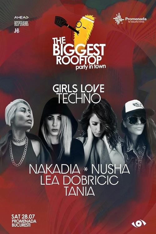 The Biggest Rooftop Party In Town pres. Girls Love Techno la Mall Promenada