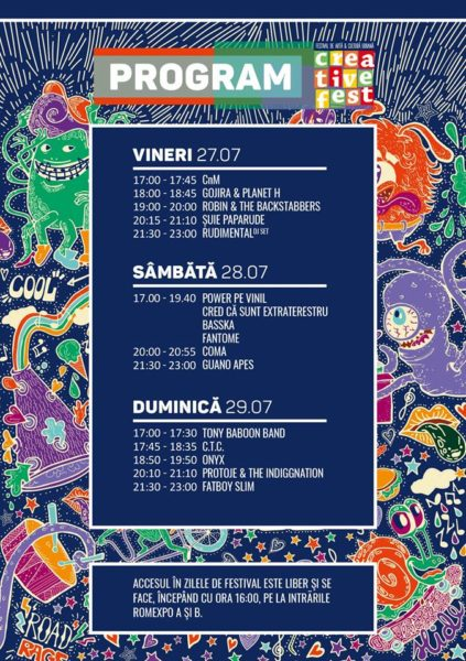 Programul Creative Fest 2018