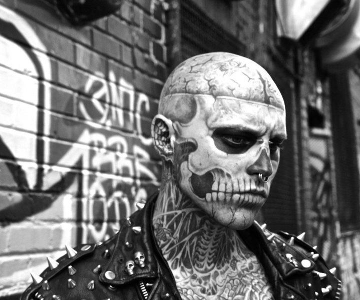 Rick Genest Zombie Boy fotomodel Lady Gaga Born This Way