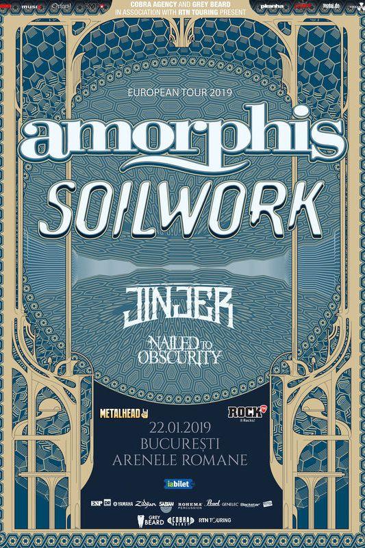 Concert Amorphis, Soilwork și Jinjer la Arenele Romane
