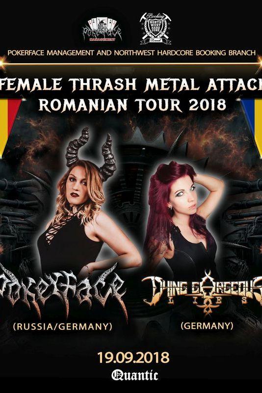 Female Trash Metal Attack la Quantic Club