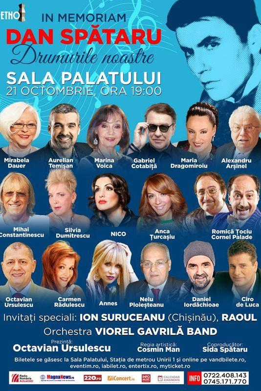 In memoriam Dan Spătaru la Sala Palatului
