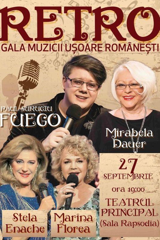 Retro Gala Muzicii Ușoare Românești la Teatrul de pe Lipscani