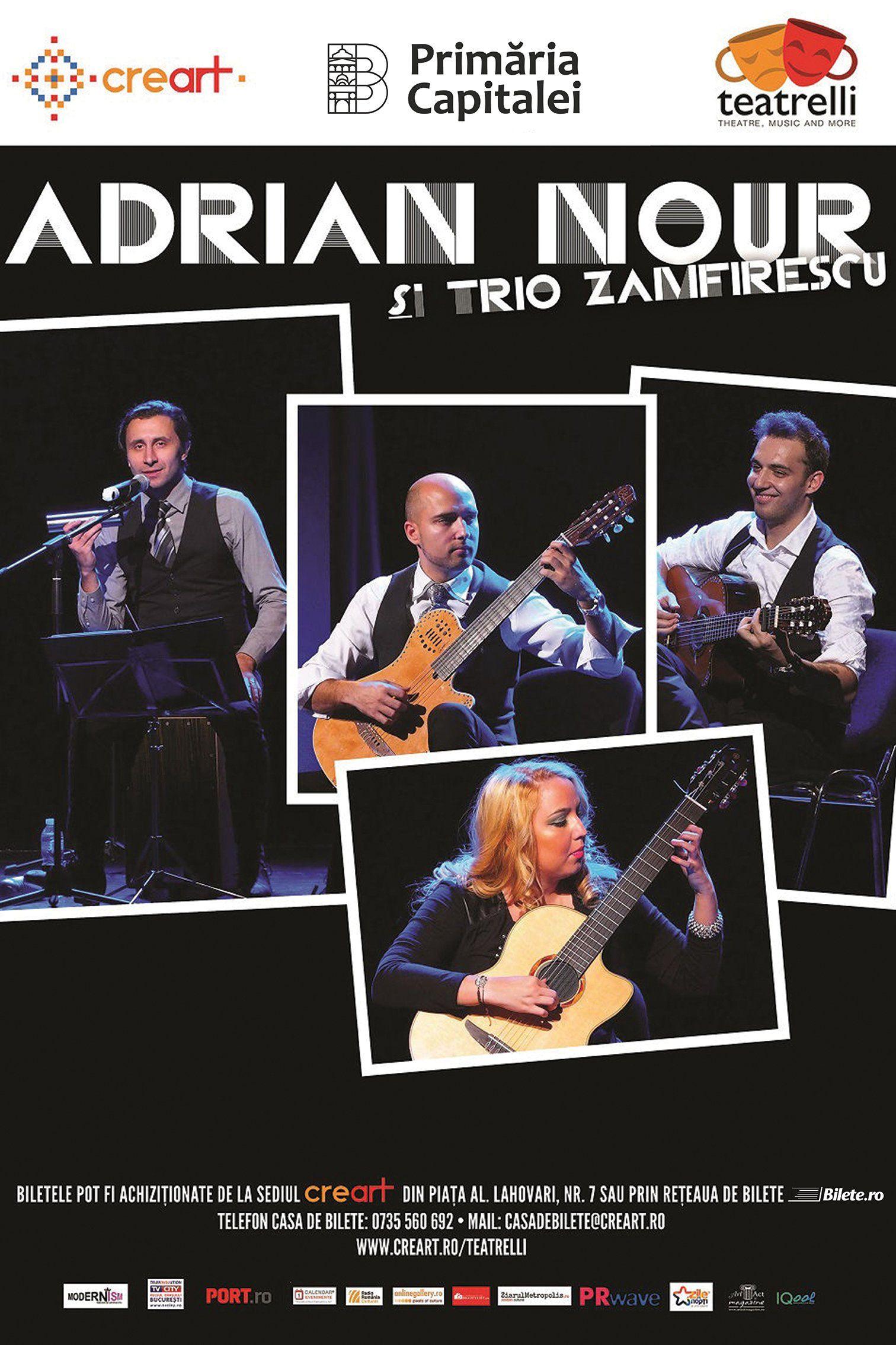 Adrian Nour & Trio Zamfirescu la teatrelli - theatre, music & more