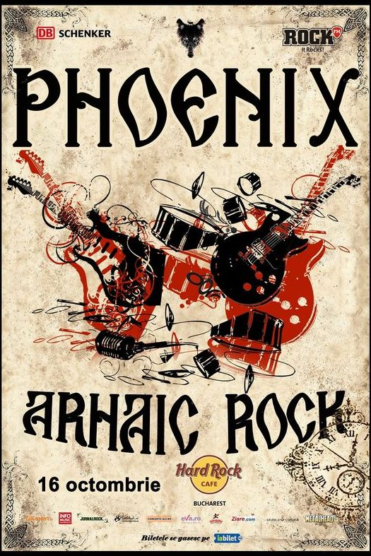 Phoenix - Arhaic Rock la Hard Rock Cafe