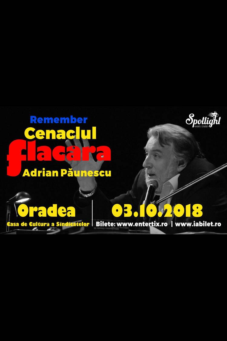 Remember Cenaclul Flacăra la Casa de Cultură a Sindicatelor Oradea
