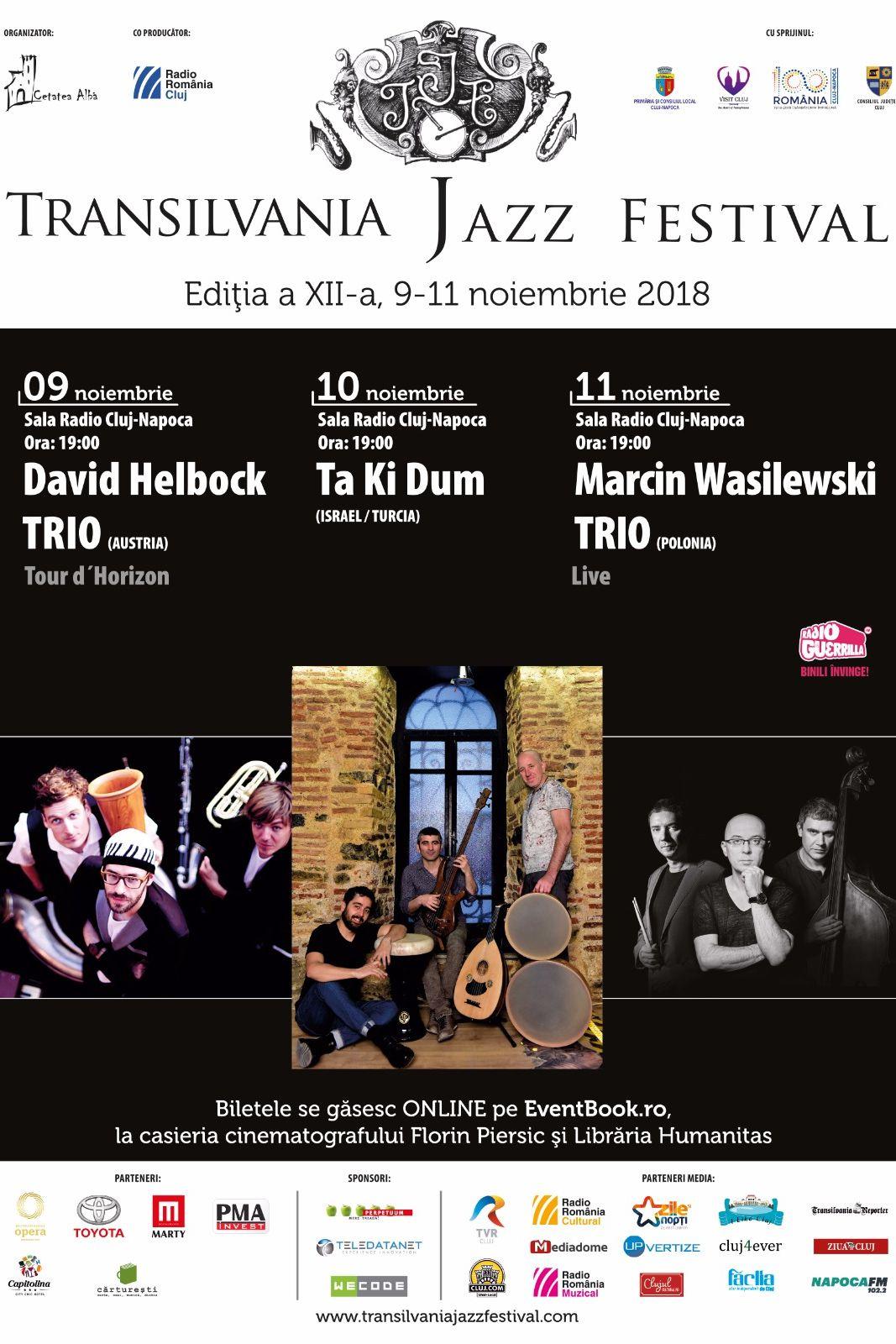 Transilvania Jazz Festival 2018 la Sala Radio din Cluj Napoca