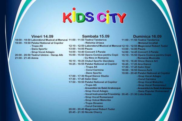 Program complet Kids City 4 (14-16 septembrie 2018)