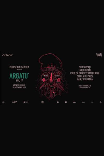 Poster eveniment Argatu\' - lansare album