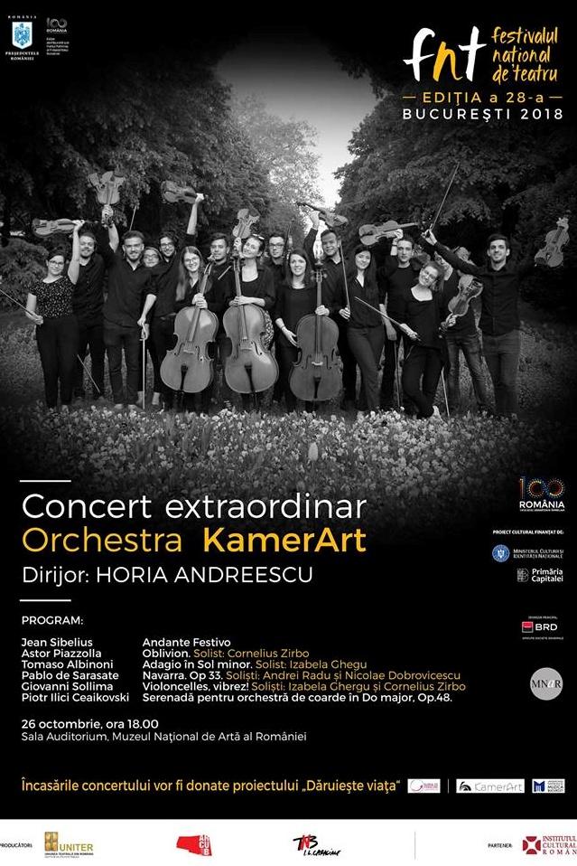 Concert caritabil al Orchestrei KamerArt la Muzeul Național de Artă al României (MNAR)