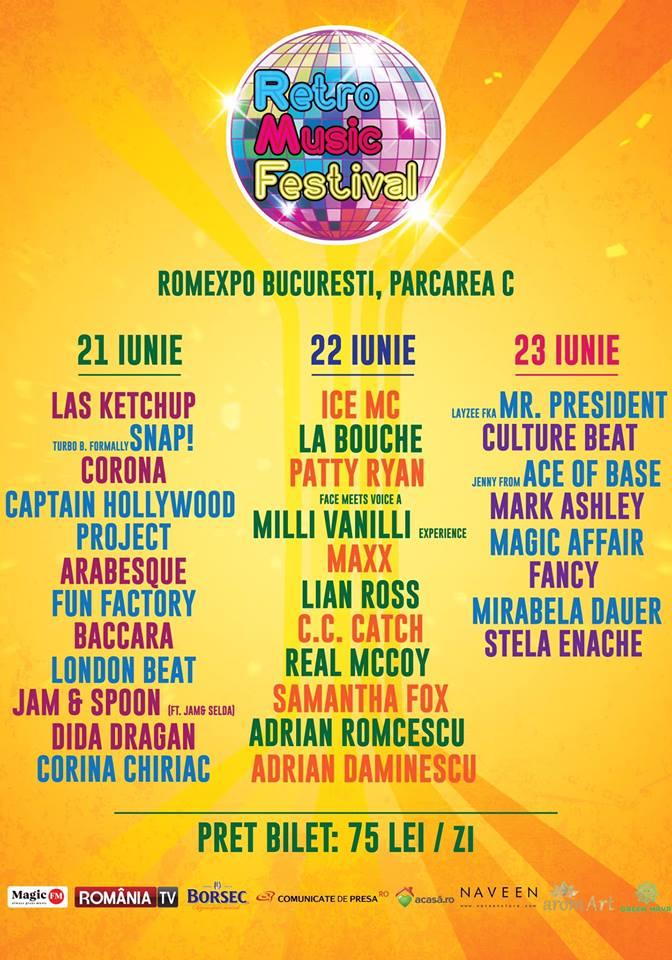Retro Music Festival 2019 la Romexpo