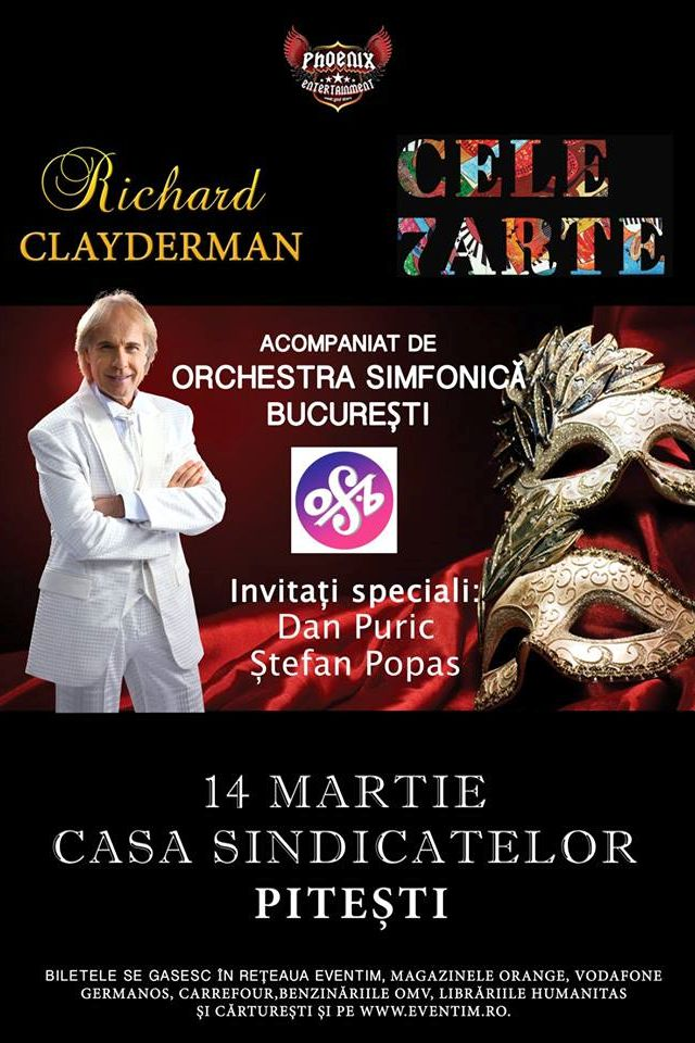 Richard Clayderman la Casa de Cultură a Sindicatelor Pitești