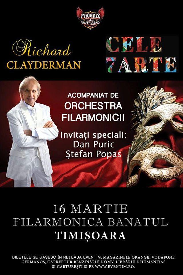 Richard Clayderman la Filarmonica Banatul din Timișoara