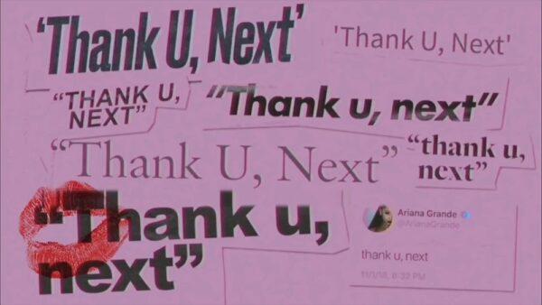 Coperta Single Ariana Grande Thank U Next
