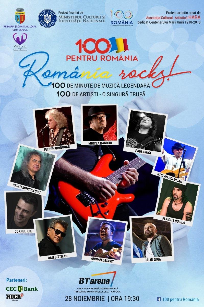 100 pentru România la BT Arena (Sala Polivalentă) Cluj-Napoca