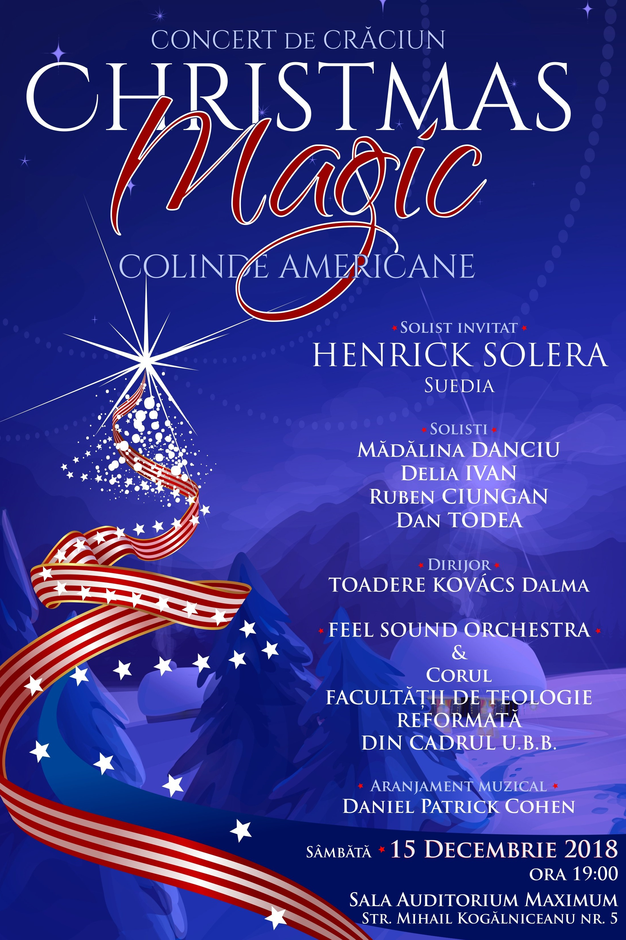Christmas Magic - Concert de colinde americane la Universitatea