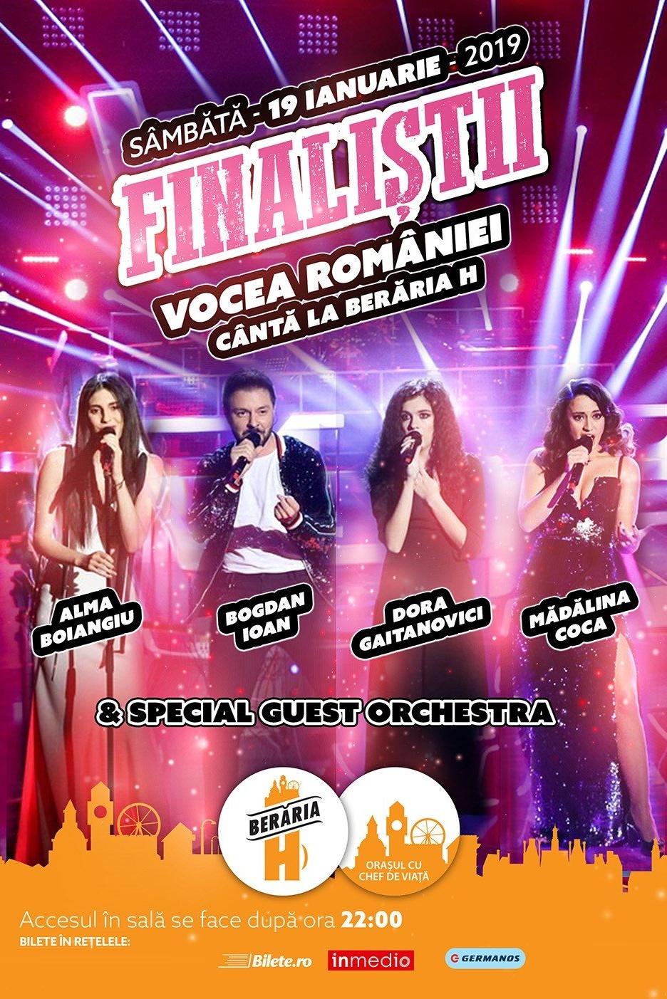 Finaliștii Vocea României 2018 la Berăria H