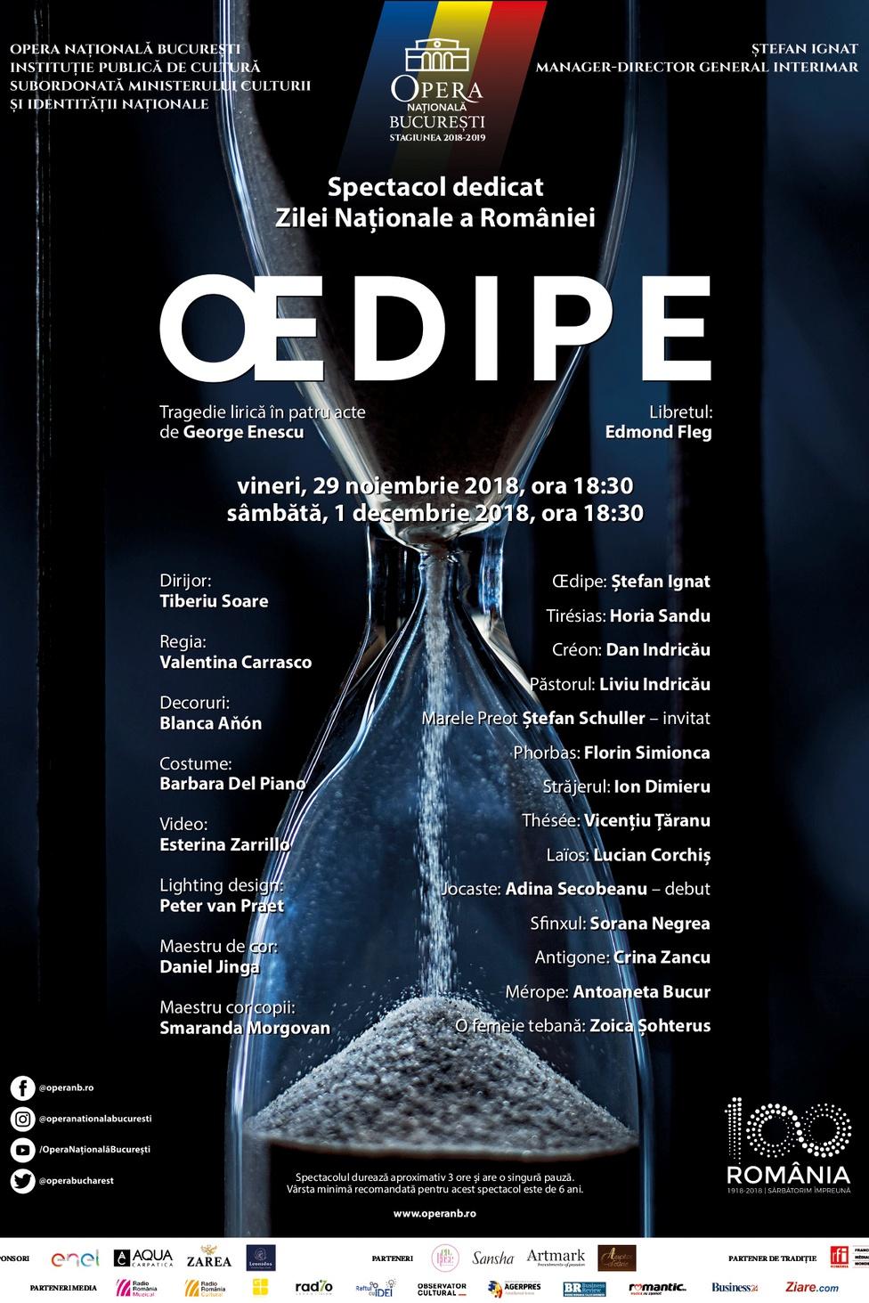 Oedipe - George Enescu la Opera Națională București