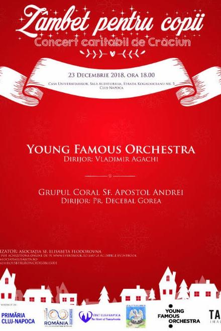 Zâmbet pentru copii - concert caritabil de Crăciun la Universitatea