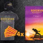Premiul concursului: 4 bilete Bohemian Rhapsody, un tricou oficial și o șapcă