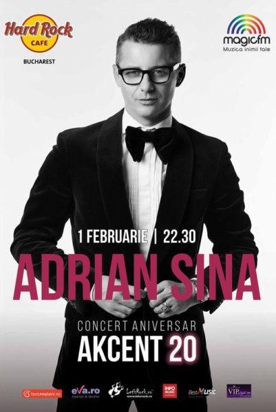 Poster eveniment Adrian Sînă - concert aniversar Akcent 20