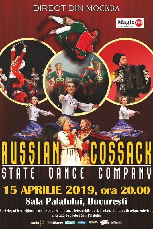 Cazacii Rusiei - State Dance Company la Sala Palatului