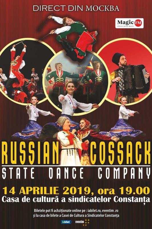 Cazacii Rusiei - State Dance Company la Casa de Cultură a Sindicatelor Constanța