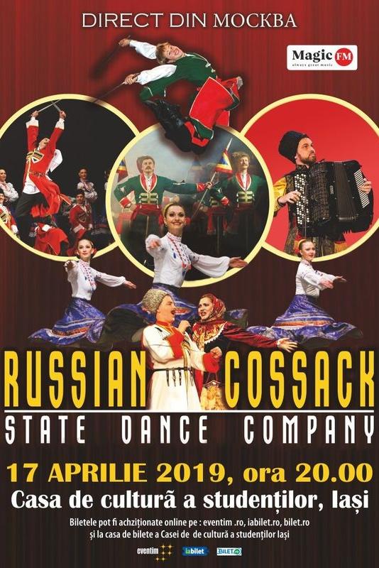 Cazacii Rusiei - State Dance Company la Casa de Cultură a Sindicatelor Iași