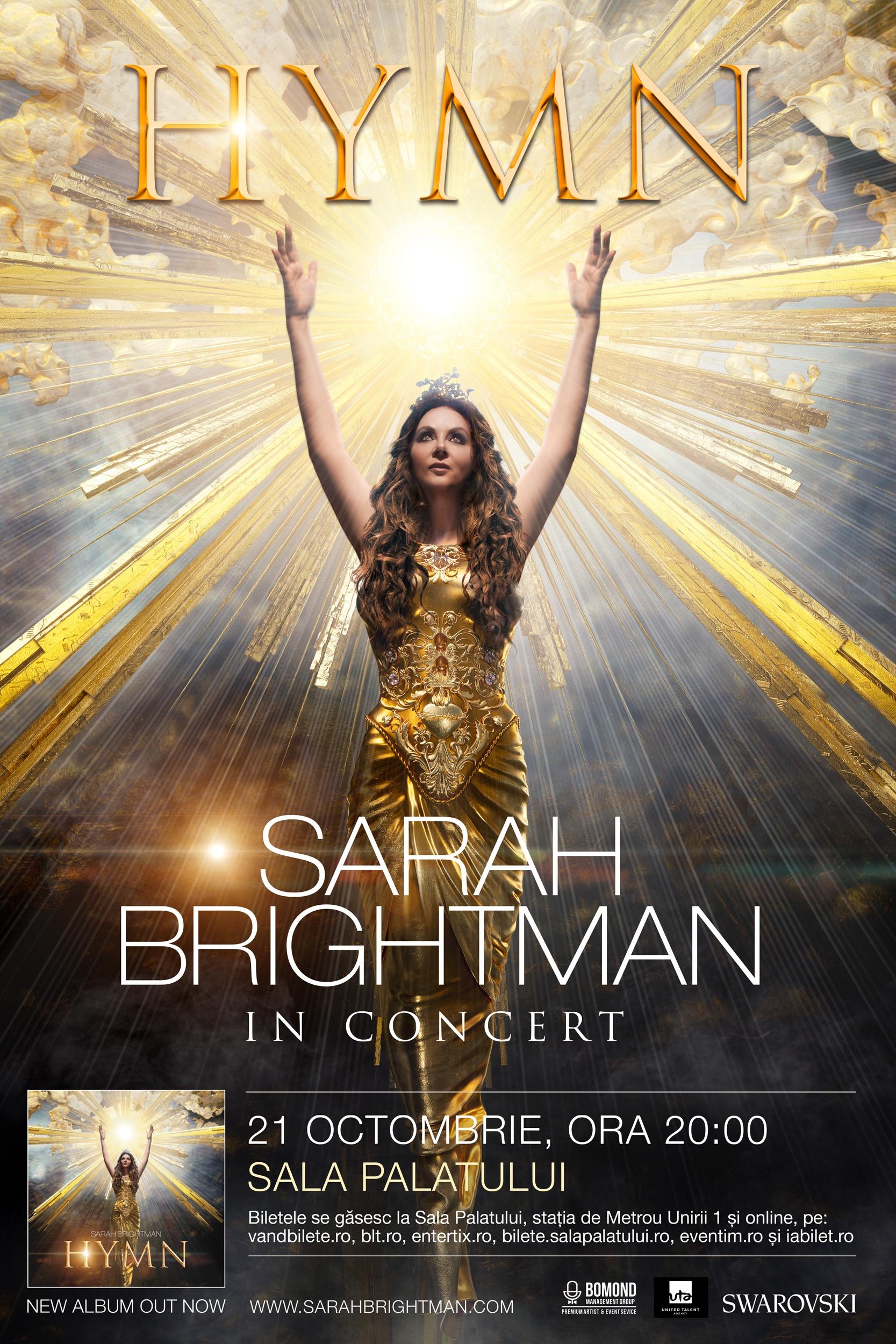 Sarah Brightman la Sala Palatului
