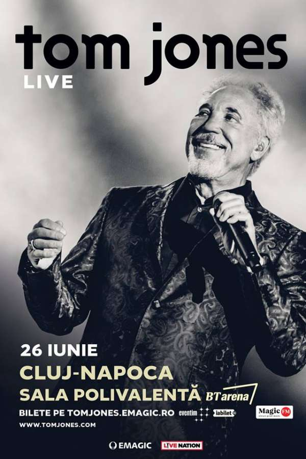 Tom Jones la BT Arena (Sala Polivalentă) Cluj-Napoca
