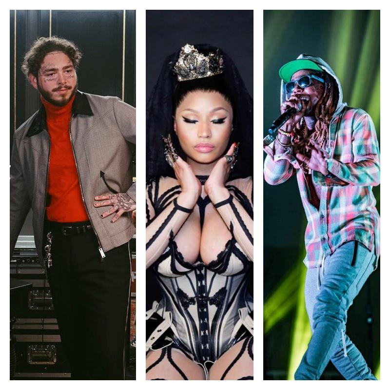 Post Malone, Nicki Minaj, Lil Wayne