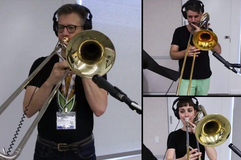 """Tromboniști cântând """"Bohemian Rhapsody"""""""