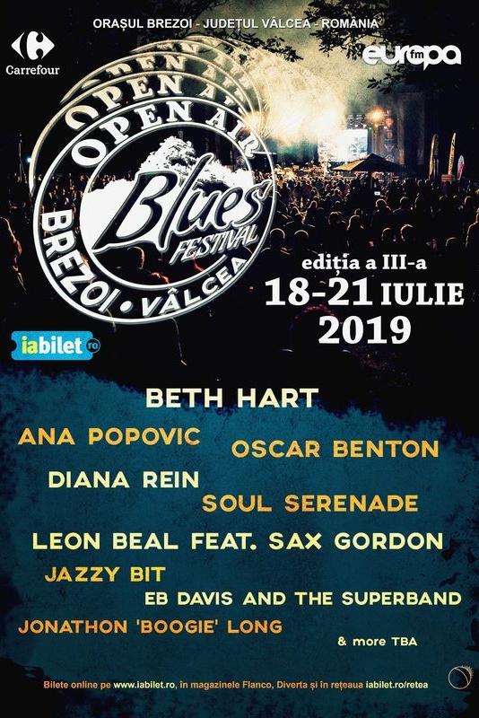 Open Air Blues Festival Brezoi 2019 la Parcul Central Brezoi