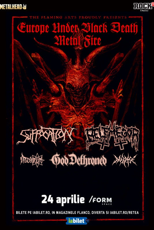Suffocation, Belphegor & God Dethroned la Form Space Club