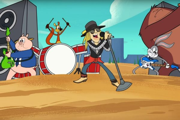 Axl Rose alături de Bugs Bunny și Porky Pig