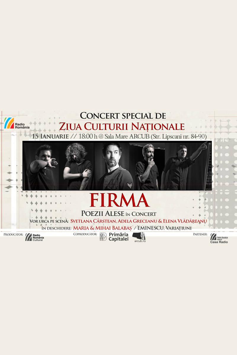 FiRMA - concert Ziua Culturii Naționale la ARCUB - Sala Mare (Hanul Gabroveni)