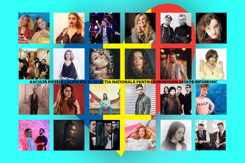 Melodiile calificate în Selecția Națională pentru Eurovision 2019