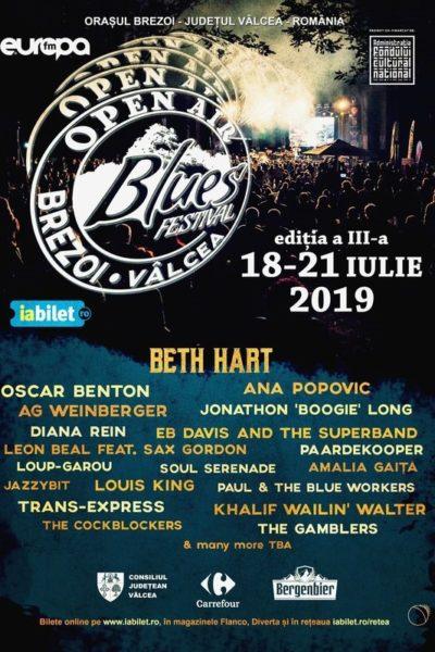 Poster eveniment Open Air Blues Festival Brezoi 2019