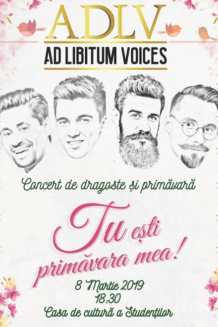 Ad Libitum Voices la Casa de Cultură a Studenților din Cluj-Napoca