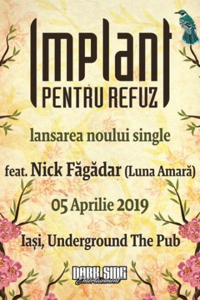 Poster eveniment Implant pentru Refuz - lansare single