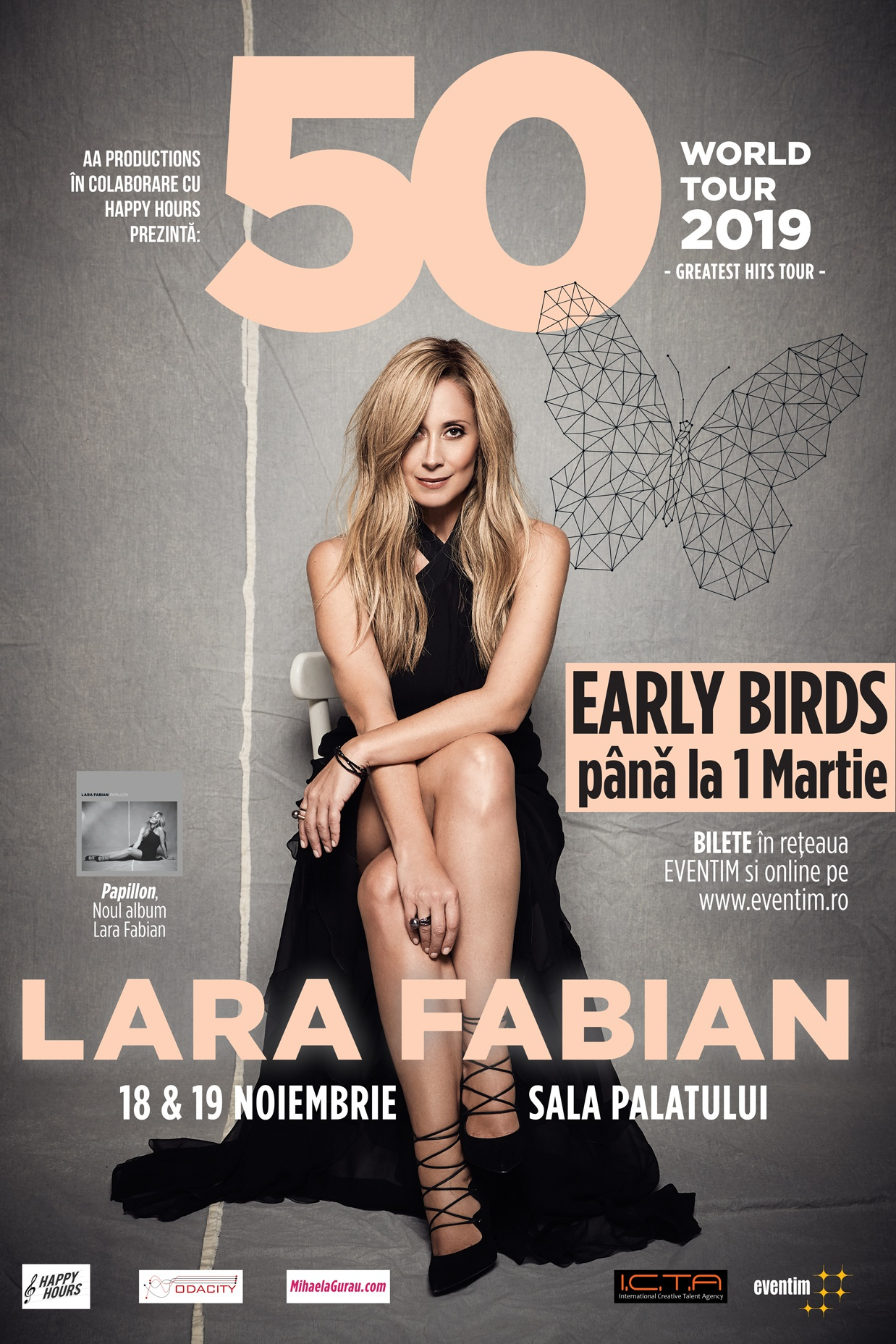 AMÂNAT - Lara Fabian la Sala Palatului