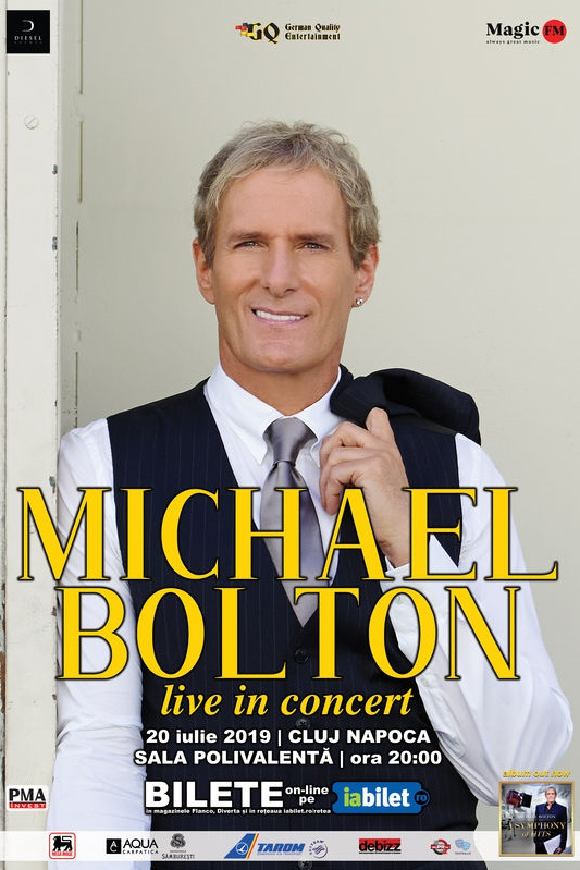 Michael Bolton la BT Arena (Sala Polivalentă) Cluj-Napoca